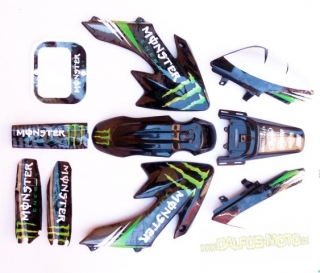 pitbike polepy na plasty CRF 50 monster energy, Stomp, DemonX